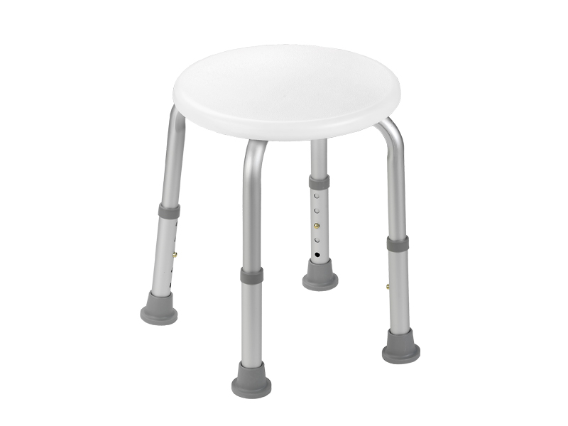 Bath stool with height adjustable legs