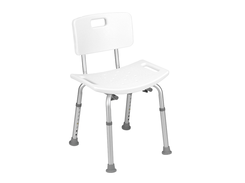 Chair with handles and height adjustable legs
