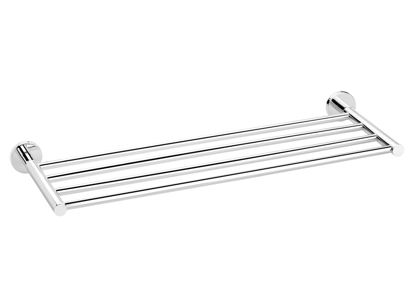 Towel rack in chromed brass