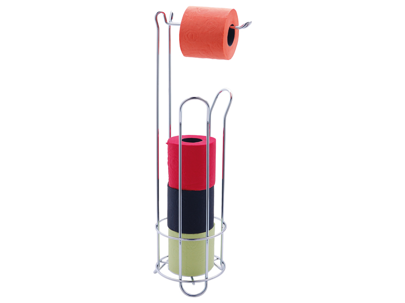 Spare roll holder set, chromed iron