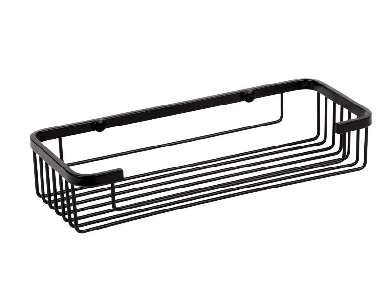 Jabonera rectangular negro