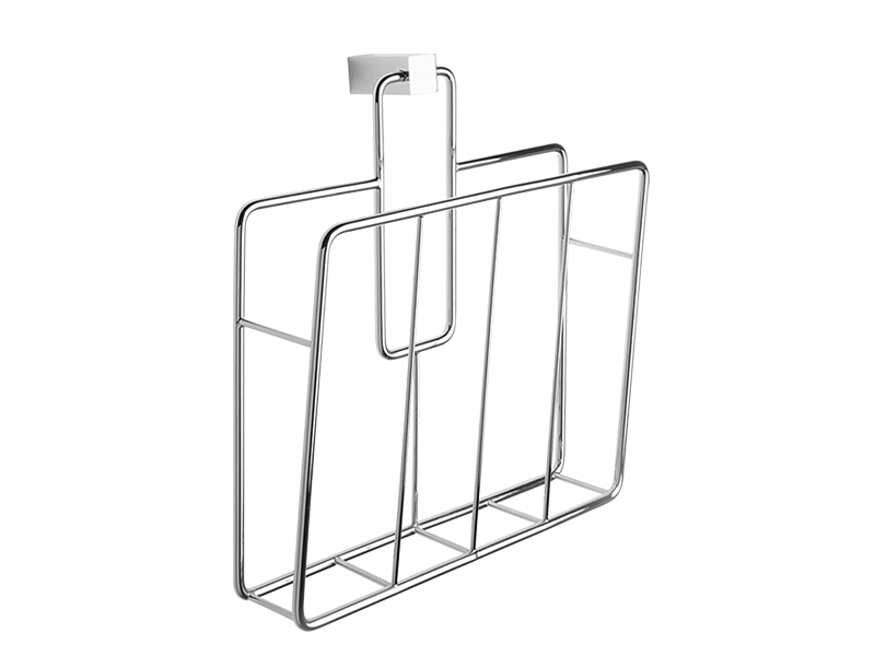 Brass chromed magazine rack holder