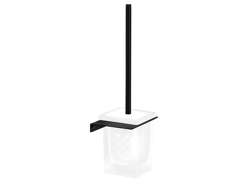 Black Wall toilet brush holder
